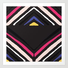 Sierra-Black Art Print