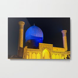 Timur mausoleum at night Metal Print