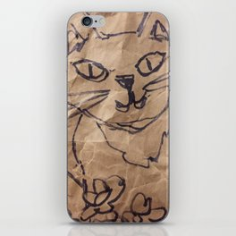 Cat on the bag iPhone Skin