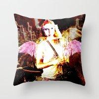 angels Throw Pillows featuring Angels by Maya Kechevski
