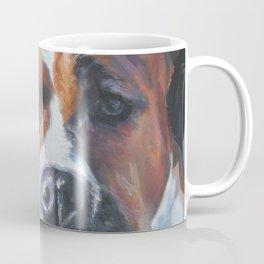 Beautiful American Staffordshire Terrier portrait by L.A.Shepard fine art painting Coffee Mug
