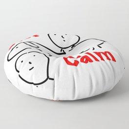 Keep Calm Floor Pillow