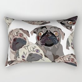 Pug Nation Rectangular Pillow
