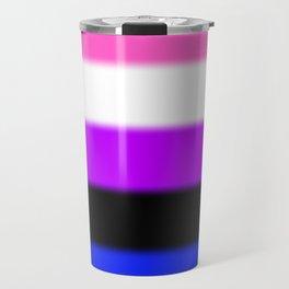 Genderfluid Pride Flag Travel Mug