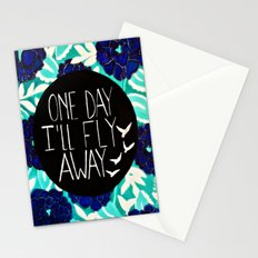 One Day I'll Fly Away Stationery Cards