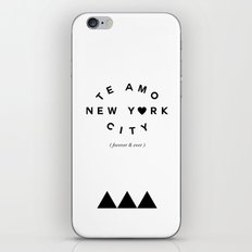 TE AMO NEW YORK CITY (forever & ever) iPhone & iPod Skin