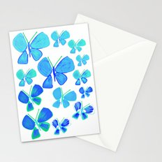 butterflies, butterfly print, butterfly illustration, butterfly pattern, art, print, design,  Stationery Cards
