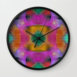 Color Fusion Lilac Mirrored Abstract Wall Clock