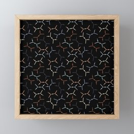 Compton scattering Feynman diagrams on Black Framed Mini Art Print