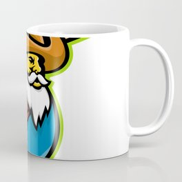 Miner Baseball Player Mascot Coffee Mug
