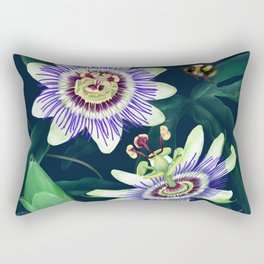Passion Flower Vine Rectangular Pillow