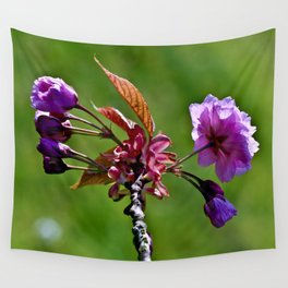 Pink Blossoms of Spring Wall Tapestry