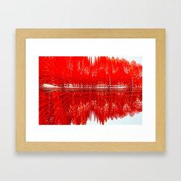 Red Burst Framed Art Print