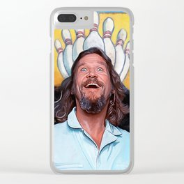 The Dude - The Big Lebowski Clear iPhone Case