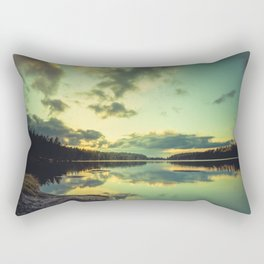 Speaking in silence Rectangular Pillow