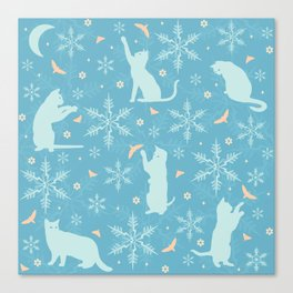 festive flurry Canvas Print