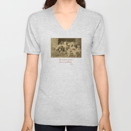 English Setter puppies & Mother's Day quote Unisex V-Neck