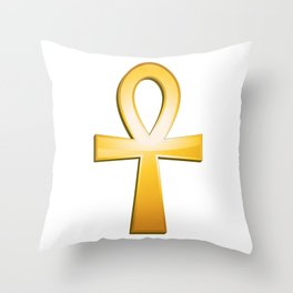 Ankh - egyptian symbol Throw Pillow