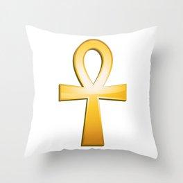 Ankh - egyptian symbol Throw Pillow