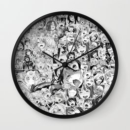 Ahegao Face Wall Clock