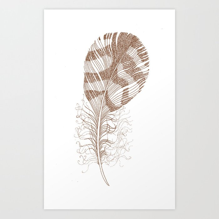 The Solitary Feather Art Print