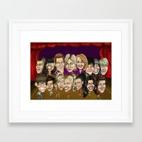 glee Framed Art Prints featuring Glee Cast Caricature Artwork  by GinjaNinja1801