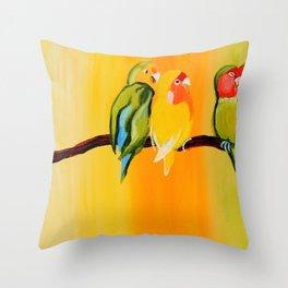 Sweetheart Birds Throw Pillow