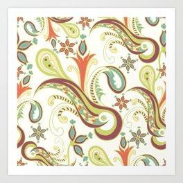 Paisly ornament Art Print