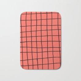 Flashy grid Bath Mat