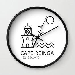 Cape Reinga New Zealand Wall Clock