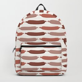 Cute vector sausages cartoon. Seamless repeat pattern illustration Backpack