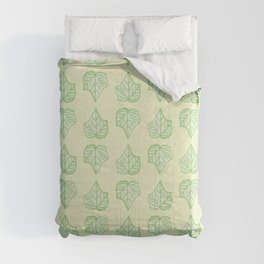 Creeping Plant Leaf Pattern   Comforters
