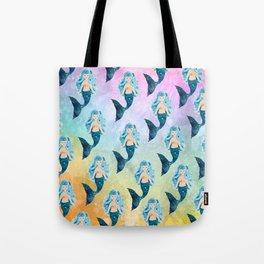 Rainbow Mermaid Bubbles Tote Bag