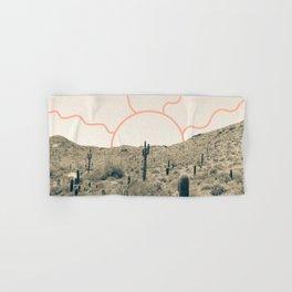 Wonder Rift // Abstract Vintage Mountains Summer Sun Surfer Beach Vibes Drawing Happy Wall Decor Hand & Bath Towel