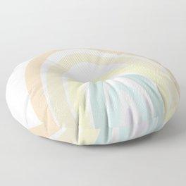 my own pastel rainbow Floor Pillow