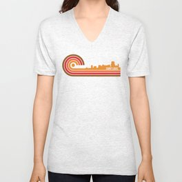 Retro Style Saint Louis Missouri Skyline Unisex V-Neck