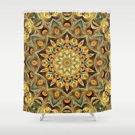 Flower Of Life Mandala (Desert Sunset) Shower Curtain