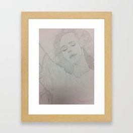 LanaDelRey Drawing Framed Art Print