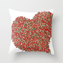 Love - Heart Shape Cute and Beautiful Strawberry  Throw Pillow