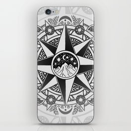 Journey to Moon Mountain | Black & Grays iPhone Skin
