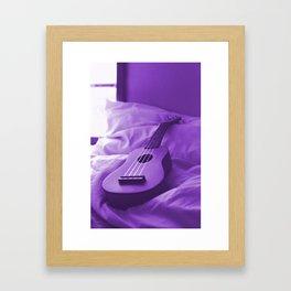 Uke Purple Framed Art Print