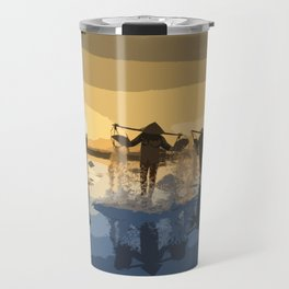 Salt Harvest in Abstract Art Travel Mug