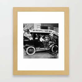 Vintage I'm No Camel - We Want Beer - Repeal Prohibition black and white photograph / photographs  Framed Art Print