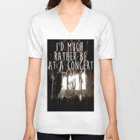 concert V-neck T-shirts featuring Concert life by Parker Hoge