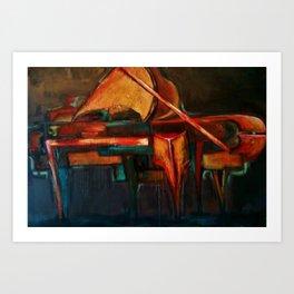 Abstracted Piano Art Print