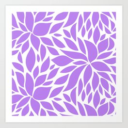 Bloom - violet Art Print
