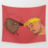 tupac Wall Tapestries featuring Resting Kings by Aybee Omari