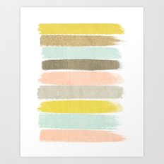 Madison - Brushstroke art print in modern colors bright and happy gifts for trendy girls Art Print