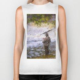 Trout fishing Biker Tank