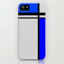 Cross Lines in blues iPhone Case